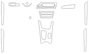 Комплектвыкроек для салона BMW X3 2014