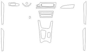 Комплект викрійок для салону BMW X3 2014