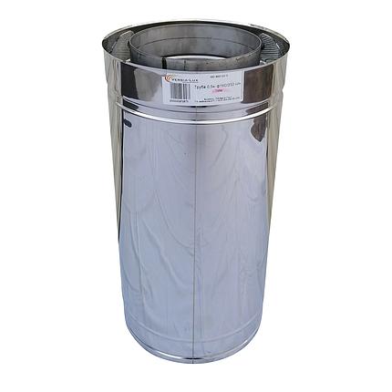 Труба димохідна сендвіч d 250 мм; 0,5 мм; AISI 304; 50 см; нержавіюча сталь/неіржавіюча сталь - «Версія-Люкс», фото 2