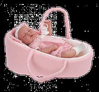Кукла младенец в корзинке Antonio Juan LUNA CAPAZO, 3353, 40см. Бесплатная доставка.