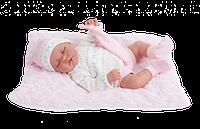 Кукла младенец на подушке Antonio Juan LUNA COJIN, 3348, 40см. Бесплатная доставка