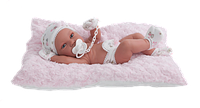 Кукла младенец на подушке Antonio Juan R.N. PIPA COJIN, 5090, 42см. Бесплатная доставка.