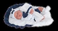 Кукла младенец на одеяле Antonio Juan LUNA COJIN CARRO, 3360, 40см. Бесплатная доставка