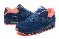 Кроссовки мужские Nike Air Max 90 Premium Anti-Fur Australia Blue Orange , фото 1