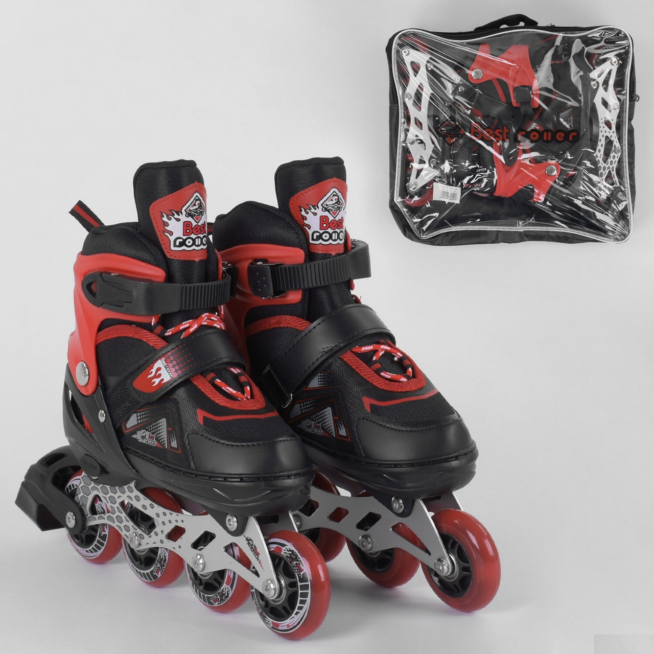 Ролики детские Best Roller 8655, размер 34-37, колёса PU, в сумке
