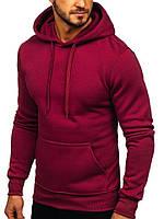 Толстовка с капюшоном бордо, худи стильное, спортивная кофта Турция