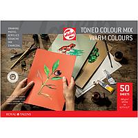 Бумага тонированная Royal Talens А4, 180г/м2, 50л., Тёплые цвета, 4 оттенка