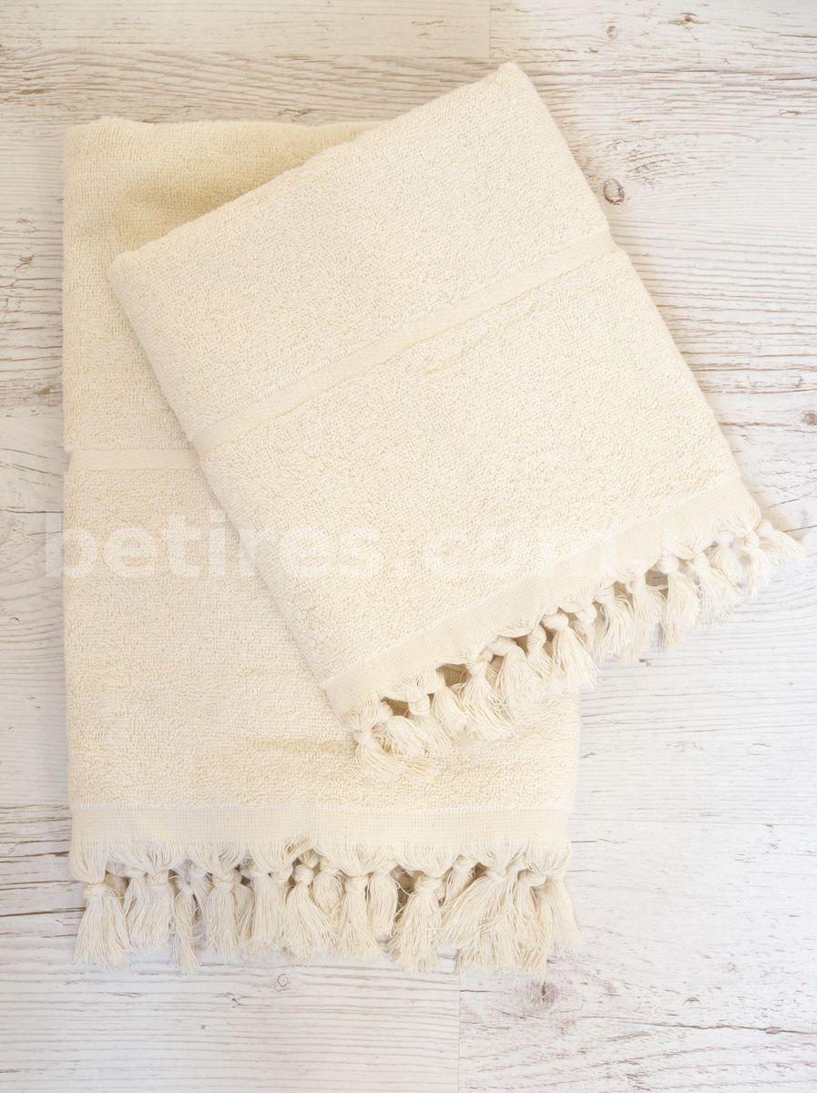 Набор полотенец LIMASSO SACAKLI CREAM 2шт. (70х140,50х90) кремовый