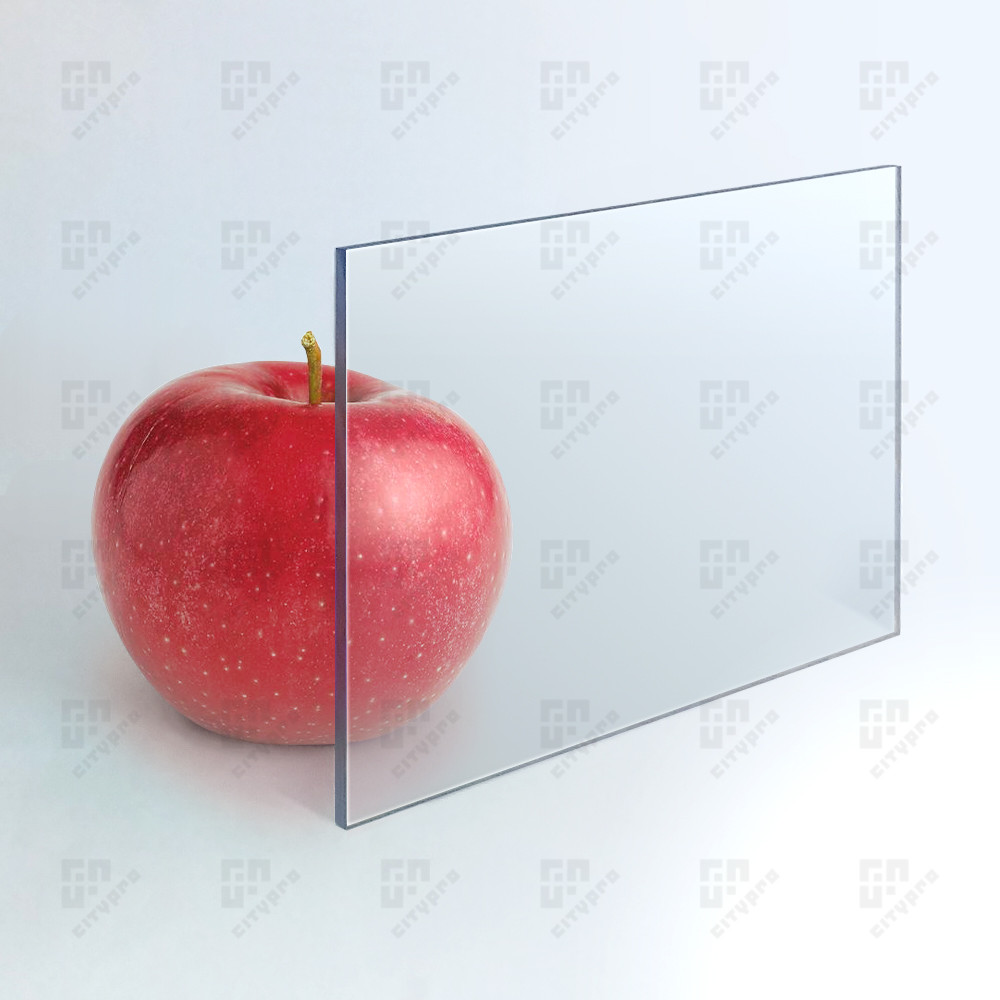 Монолитный поликарбонат Plexicarb Pro, прозрачный, лист 2.05 х 3.05 м, 3 мм