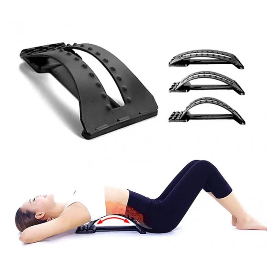 3-х уровневый тренажер для спины и позвоночника Back Magic Support, массажер для спины