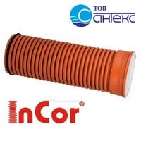 Труба, SN12, d 160мм x 6000мм, гофрированная Инкор (Incor), двухслойная, для канализации