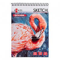 Альбом для акварели Santi Nature А5 Paper Watercolour Collection20 л. 200г/м2 742833