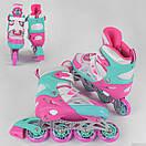 Ролики детские Best Roller 4611, размер 34-37, колёса PU, в сумке, фото 2