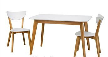 Кухонный Комплект Стол +2 Стула Модерн Т Бук с Белым