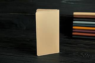 """Шкіряний гаманець """"Лонг Тревел"""", шкіра Grand, колір Бежевий, фото 2"""