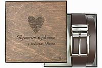 Мужской кожаный ремень коричневого цвета Morison Atelier `Thando`