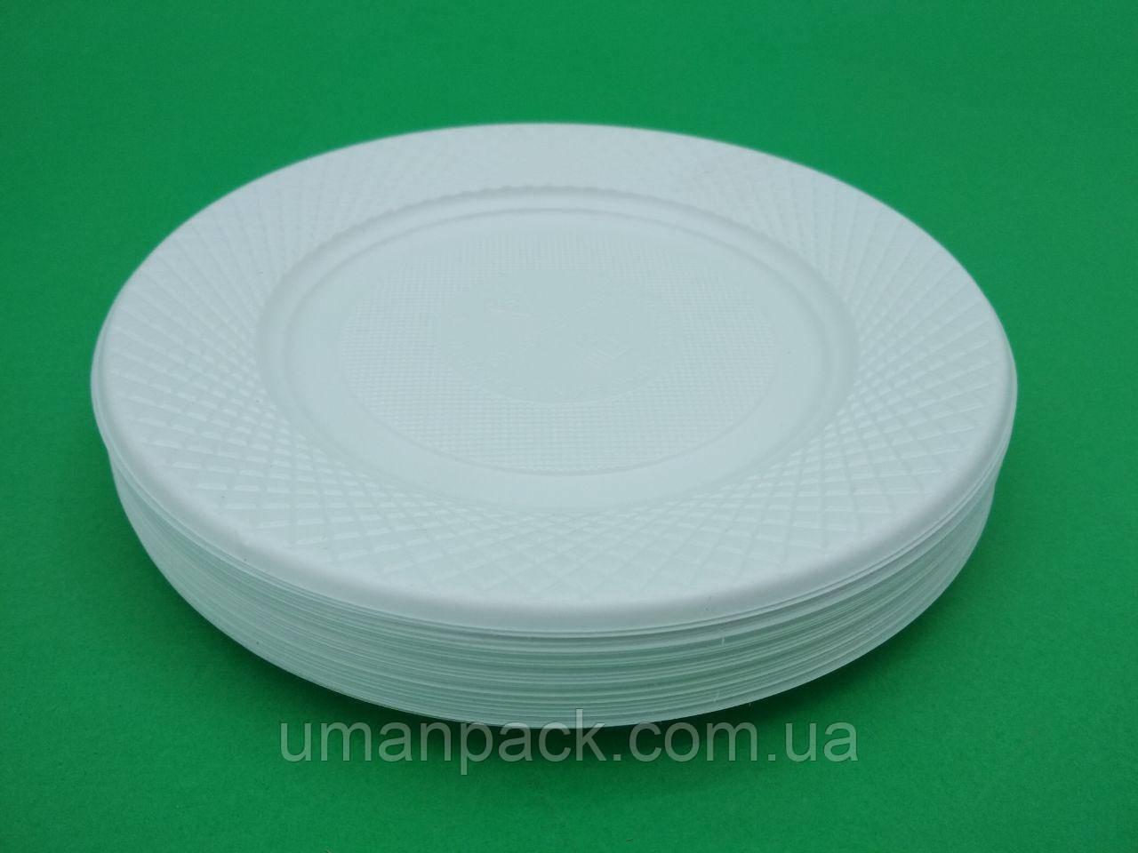 Одноразова тарілка дисертная , дрібна 172мм (50 шт)