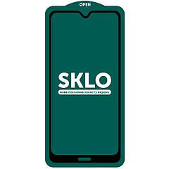 Захисне скло SKLO 5D для Xiaomi Redmi 8 / 8a чорний + комплект для поклейки