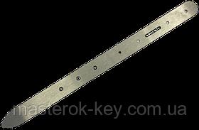 Лекало металлическое для изготовления ремней вручную ширина 19мм. с отверстиями для крепления пряжки
