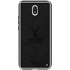 1 x TPU+Textile чохол Deer для Xiaomi Redmi 8a (Чорний)