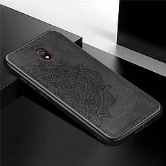 TPU+Textile чохол з 3D тисненням для Xiaomi Redmi 8a (Чорний)