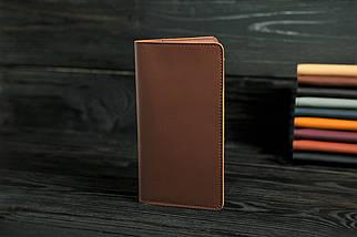 """Шкіряний гаманець """"Лонг Тревел"""", шкіра Grand, колір Віскі, фото 3"""
