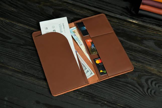 """Шкіряний гаманець """"Лонг Тревел"""", шкіра Grand, колір Віскі, фото 2"""