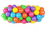 Разноцветные мягкие шарики, мячики для детских сухих бассейнов 80 мм 100 шт в сетке MToys
