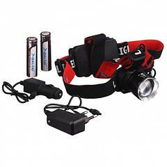 Фонарь налобный 2шт аккумулятора светодиодный фонарь T20 диод P90