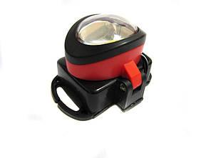 Фонарик светодиодный на лоб BL 539 COB LED 5W фонарь на батарейках красный