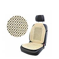 Накидка массажная деревянная на сиденье автомобиля ELEGANT 100 654 (100x47см, белая косточка)