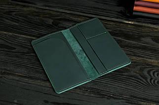 """Кожаный кошелек """"Лонг Тревел"""", кожа Grand, цвет Зеленый, фото 2"""