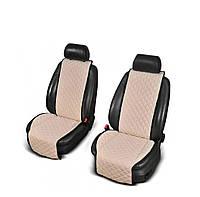 Накидки з алькантари бежеві на сидіння авто (передні), фото 1