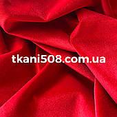 Бархат ткань  Красный