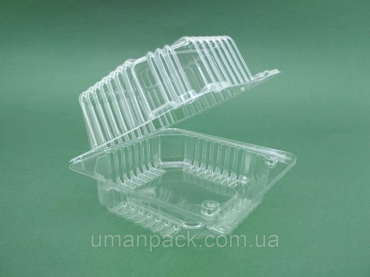 Контейнер пластиковый с откидной крышкой V500мл ПС-8 110*105*58 (50 шт)