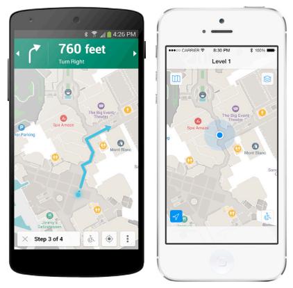 Мобільні додатки на базі Meridian працюють як на пристроях iOS, так і Android.