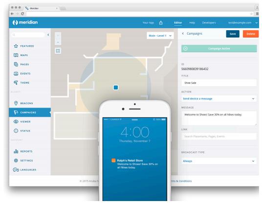 Місця можуть надсилати користувачам push-повідомлення, коли вони входять у заздалегідь певні зони.