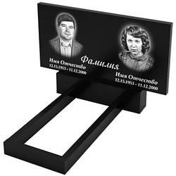 Подвійний пам'ятник з граніту (100-50) Д-01/2