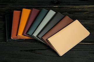 """Шкіряний гаманець """"Лонг Тревел"""", шкіра Grand, колір Бурштин, фото 3"""
