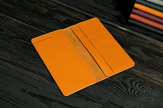 """Шкіряний гаманець """"Лонг Тревел"""", шкіра Grand, колір Бурштин, фото 2"""
