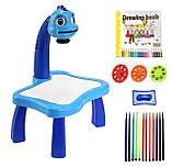 Дитячий стіл проектор для малювання з підсвічуванням | Стіл дитячий мольберт-проектор Baby для малювання з музикою, фото 2