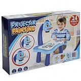 Дитячий стіл проектор для малювання з підсвічуванням | Стіл дитячий мольберт-проектор Baby для малювання з музикою, фото 9