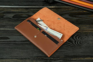 """Жіночий шкіряний гаманець """"Флай"""", шкіра Grand, колір Віскі, фото 3"""