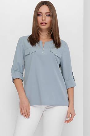 Женская однотонная блуза (3 цвета), фото 2
