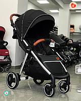 Детская Коляска прогулочная CARRELLO Pulse (Каррелло Пульс) Truffle Black