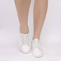 Кеди білі шкіряні 805-11, фото 3