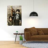 """Плакат-постер с принтом """"Attack on Titan - Вторжение титанов (японская постапокалиптическая манга)"""""""