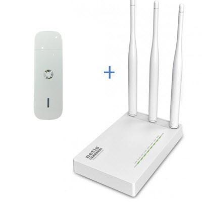 Комплект WiFi роутер Netis MW5230 + 3G/4G модем Huawei K5160