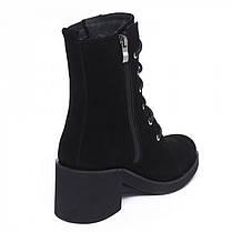Ботинки высокие замшевые на среднем каблуке 950-03, фото 3