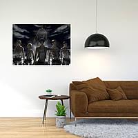 """Плакат-постер с принтом """"Attack on Titan - Вторжение титанов (японская постапокалиптическая манга) 2"""""""